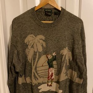 Authentic Bobby Jones sweater with golfer